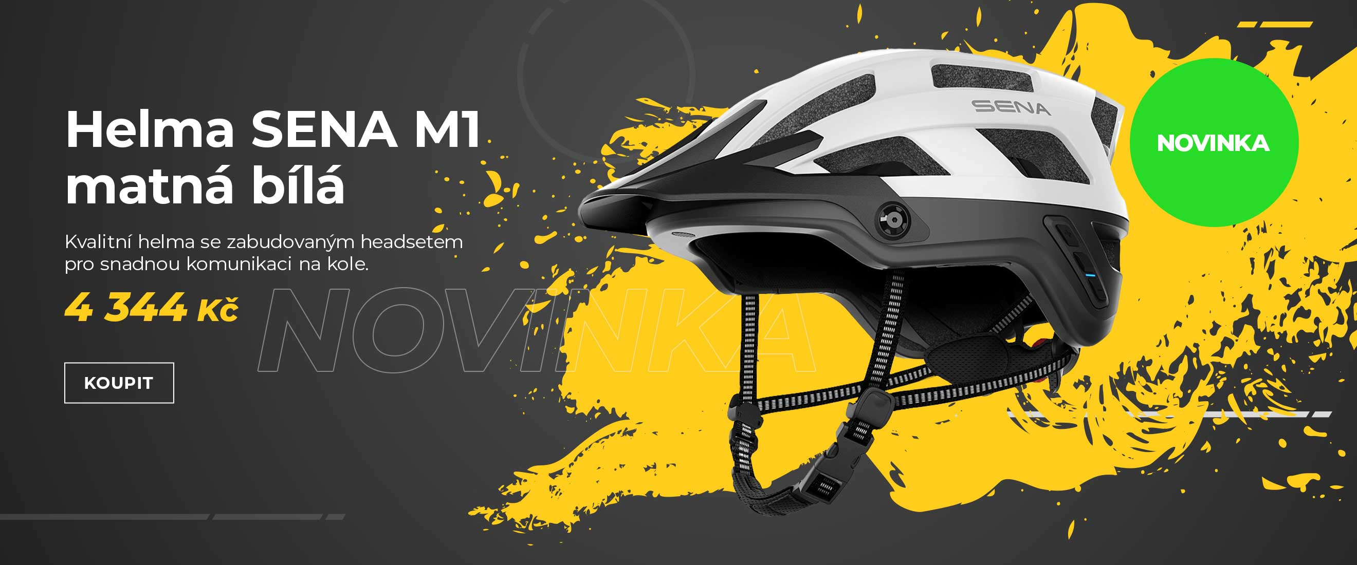 Helma na kolo s headsetem SENA M1