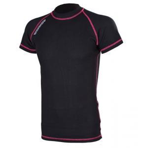 Termo triko RSA Heat černo-růžové krátký rukáv