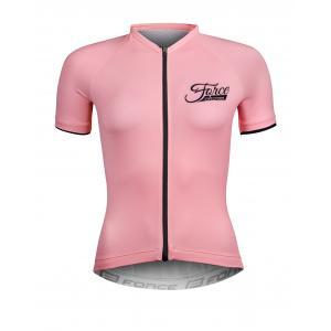 Dámský dres FORCE Charm světle růžový - krátký rukáv