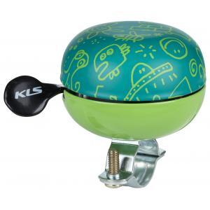 Dětský zvonek KELLYS Bell 60 Doodles zelený