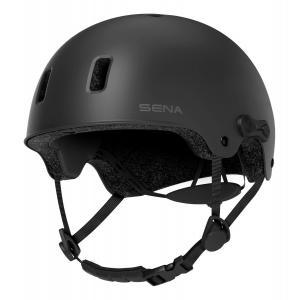 Helma na kolo s headsetem SENA Rumba matná černá