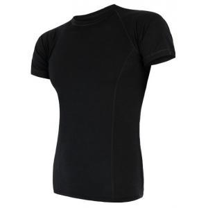Pánske funkčné tričko Sensor Merino Air čierne - krátky rukáv