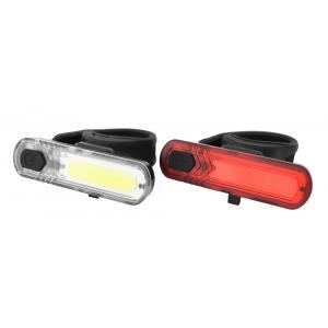 Přední + zadní světlo na kolo NEXELO 10 CHIP LED