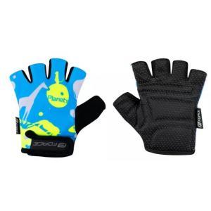 Dětské rukavice FORCE Planets modro-fluo žluté