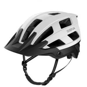 Helma na kolo s headsetem SENA M1 matná bílá