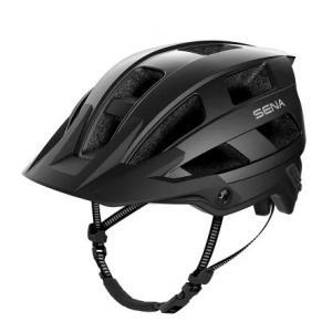 Helma na kolo s headsetem SENA M1 matná černá