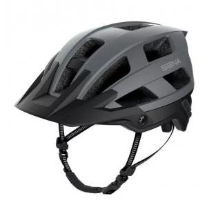 Helma na kolo s headsetem SENA M1 matná šedá