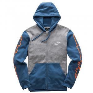 Mikina Alpinestars Machine Fleece šedo-modrá výprodej