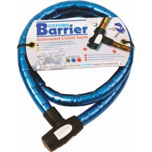 Kabelový zámek Oxford Barrier modrý