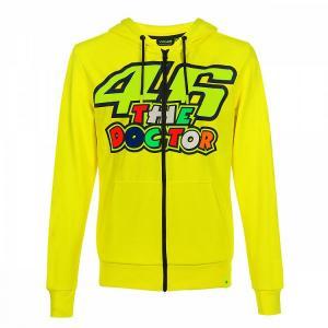 Mikina VR46 Valentino Rossi THE DOCTOR Fleece žlutá