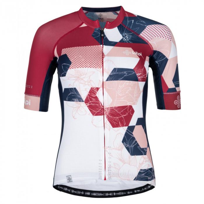 Dámský dres Kilpi Adamello bílo-modro-růžový - krátký rukáv